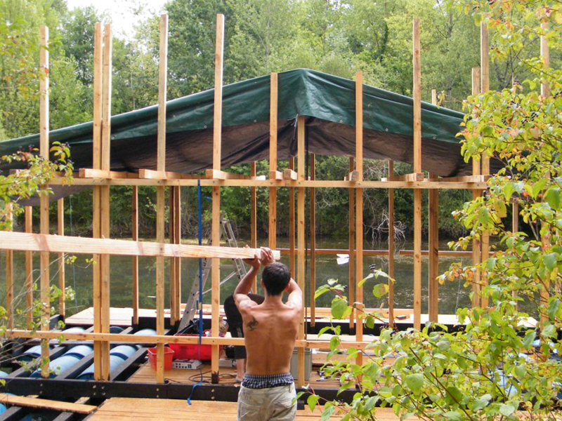 cabane flottante 3 semaines plus tard