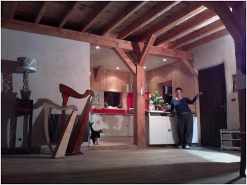 chantier eco participatif la maison de paille sur le th me yoga voix construction bio teknik. Black Bedroom Furniture Sets. Home Design Ideas