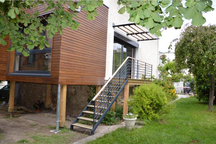 Extension et rénovation bois d'une maison écolo à Chaville