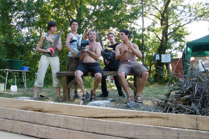 equipe chantier Août 2010