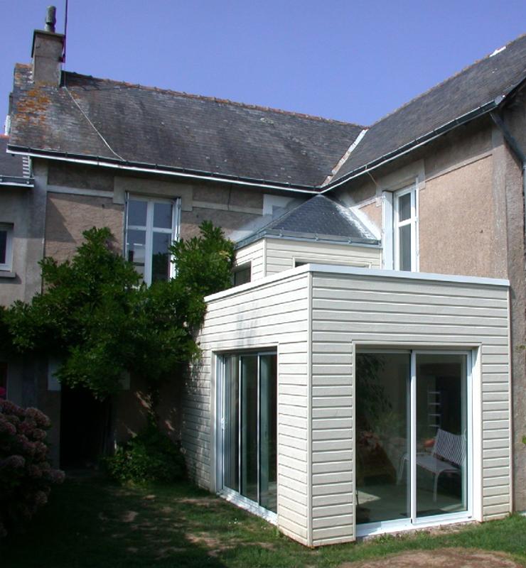 Extension d\'une maison avec ossature en bois
