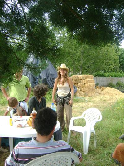 photo eco chantier participatif avec Bio Teknik Construction