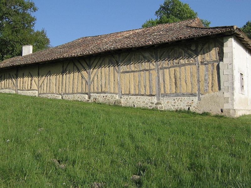 Murs en torchis (Ferme du Parcot, Dordogne).